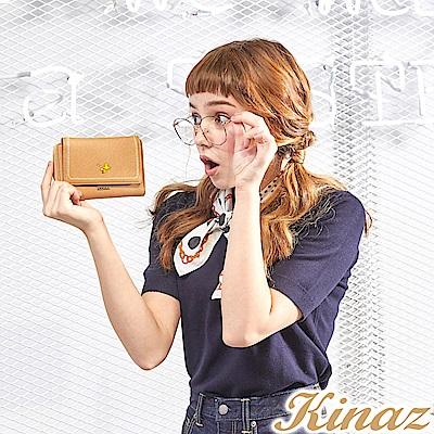 KINAZ x PEANUTS™ 清新漩渦三折中夾-焦糖咖啡-好日子系列-快