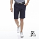 【Lynx Golf】男款Lynx字樣緹織設計平口休閒短褲-深藍色 product thumbnail 2