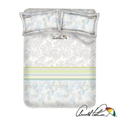 Arnold Palmer雨傘牌 迷草醉月灰-台製60紗精梳棉床包被套雙人四件組