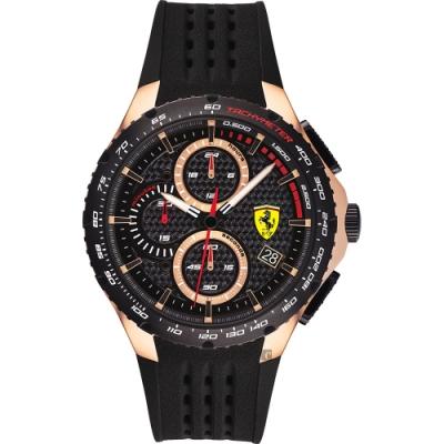 Scuderia Ferrari 法拉利 RedRev Evo 計時手錶(FA0830728)-黑/44mm