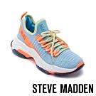 STEVE MADDEN-MAC 玩彩撞色綁帶彈性襪套式休閒球鞋-藍色