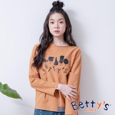 betty's貝蒂思 LOGO印花休閒上衣(深桔色)