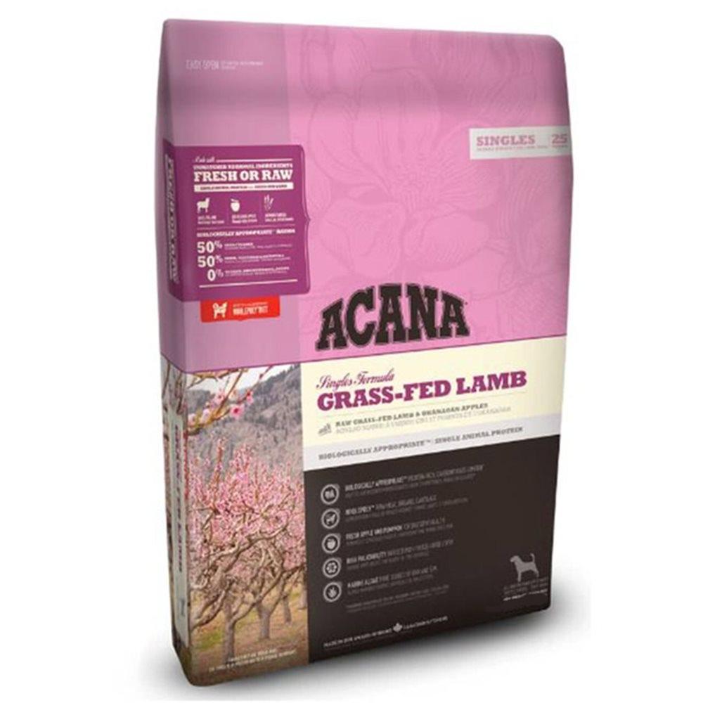 加拿大ACANA愛肯拿-單一蛋白低敏無穀-美膚羊肉+蘋果(毛髮亮麗) 2KG/4.4LB (2包組)
