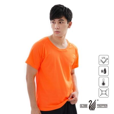 【遊遍天下】MIT中性款吸濕排汗抗UV機能圓領衫S0706桔色