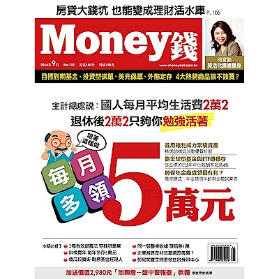Money錢(一年12期)送100元現金禮券