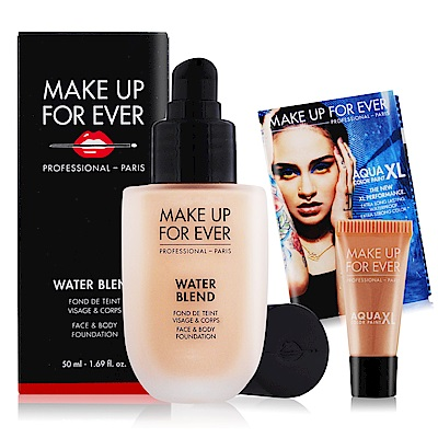MAKE UP FOR EVER 恆久親膚雙用水粉霜50ml贈超持久顯色眼彩霜1.3ml
