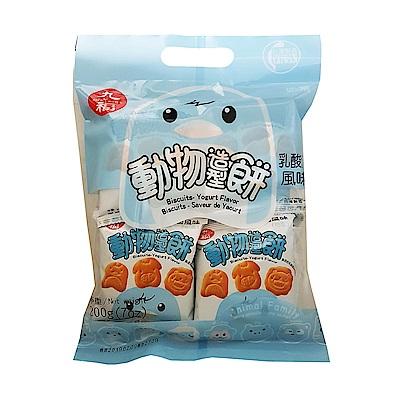 九福 乳酸風味動物造型餅(200g)