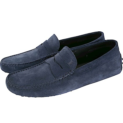 TOD'S Gommino 經典麂皮豆豆樂福鞋(男鞋/夜藍色)