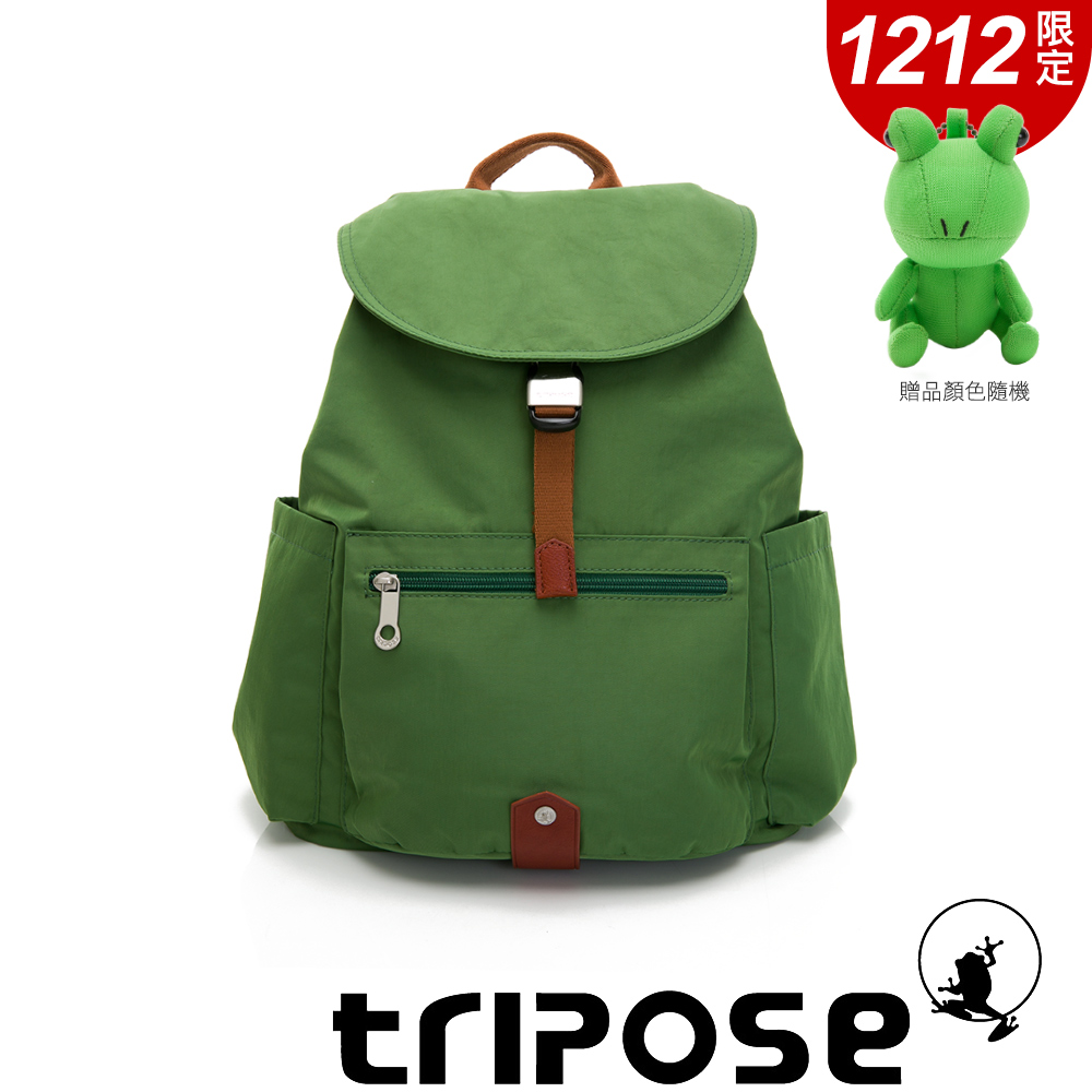 tripose MEMENTO系列微皺尼龍經典輕量後背包(大)草地綠