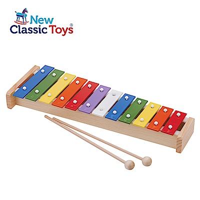 【荷蘭New Classic Toys】幼兒12音彩虹敲敲鐵琴 - 10218