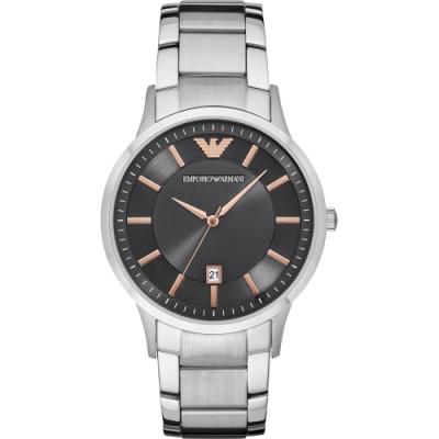 Emporio Armani 亞曼尼紳士手錶(AR11179)-灰x銀/43mm