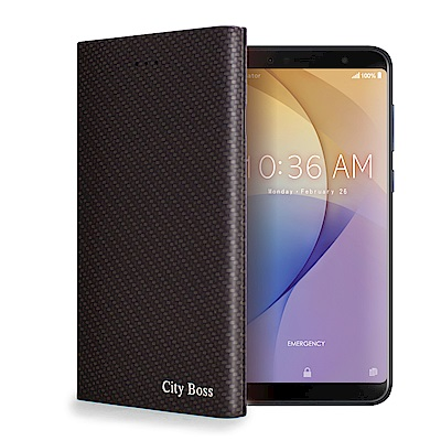 CITY For ZenFone Max Pro ZB602KL 潮流尖端紋支架皮套
