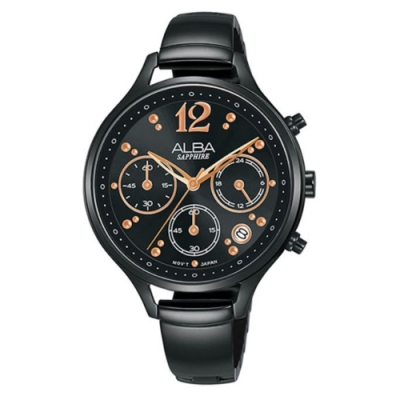 ALBA 雅柏 俏皮時尚腕錶-黑36mm(VD53-X335SD/AT3F19X1)