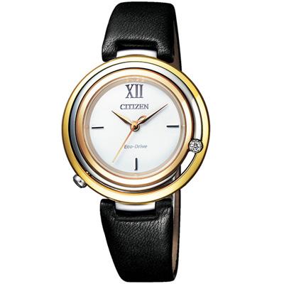 CITIZEN  L系列經典 知性時尚光動能錶(EM0656-15A)