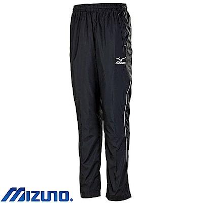 MIZUNO 美津濃 男平織運動套裝褲子 黑X白 32TD758590