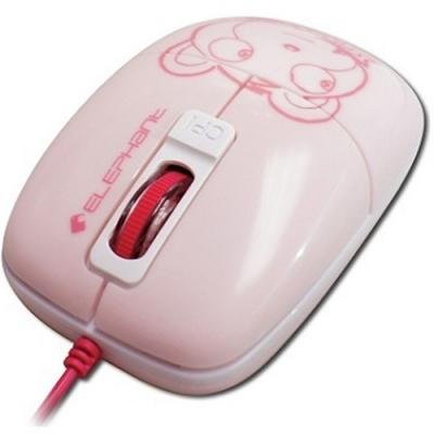 可愛小熊造型 Elephant GR藍光雷射滑鼠 (WEM1020PK) 粉紅色