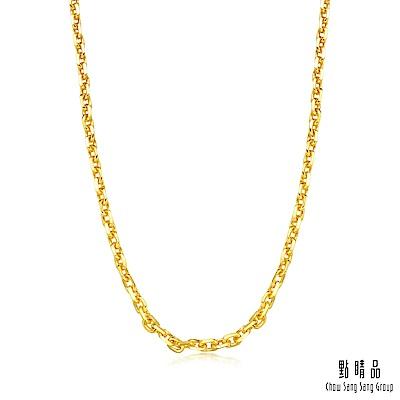 點睛品 足金萬字機織素鍊黃金項鍊(45cm)_計價黃金