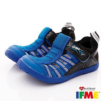 IFME健康機能鞋 輕量透氣排水款 NI02212藍(小童段)