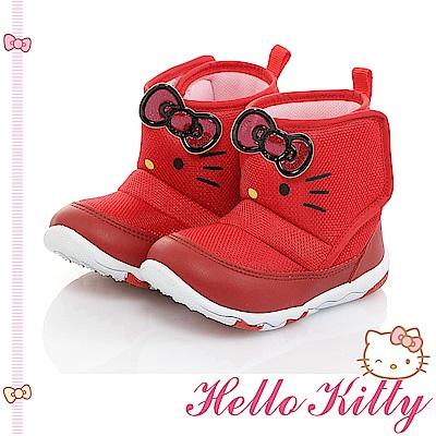 HelloKitty童鞋 保暖輕量減壓抗菌防臭高筒靴-紅