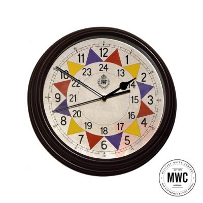 MWC瑞士軍錶 英國皇家空軍 1940年代復古掛鐘-30.5cm 復古仿舊棕色 (CLOCK/SECTOR)