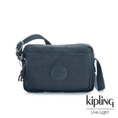 Kipling 知性優雅藍前後加寬收納側背包-ABANU