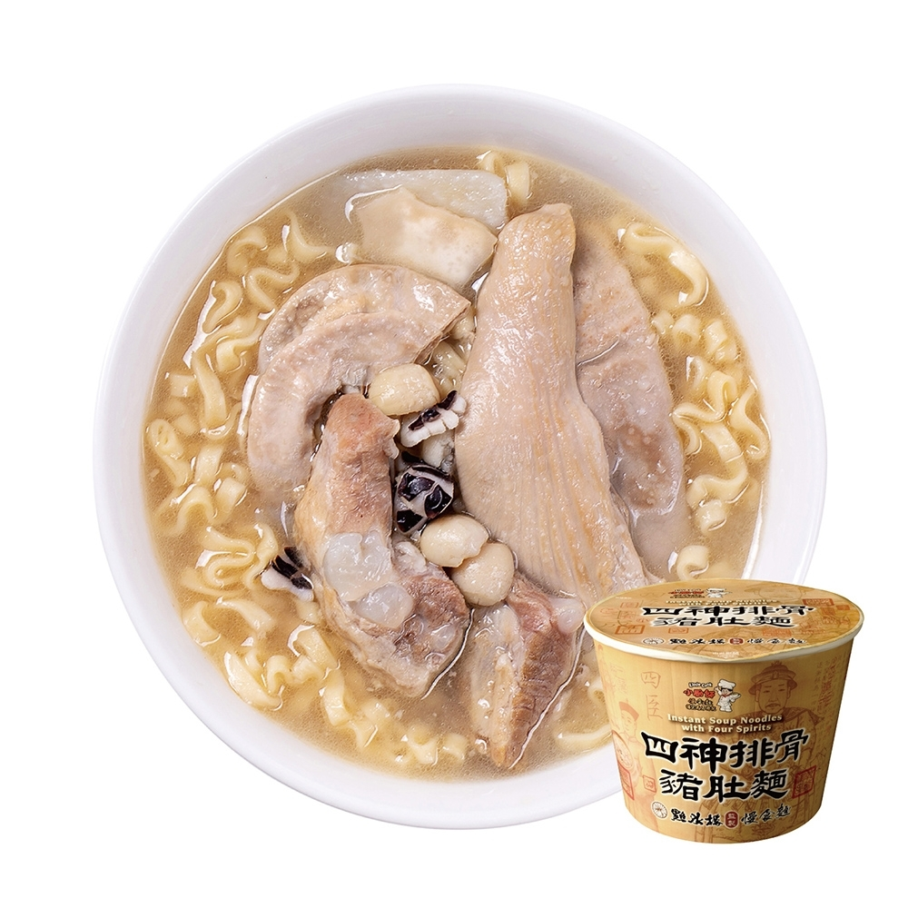 【小廚師】四神排骨豬肚麵 (313g*6桶/箱)