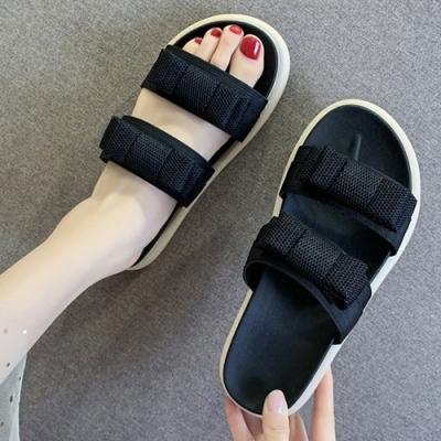 KEITH-WILL時尚鞋館 年度精選色彩繽紛涼拖鞋-黑