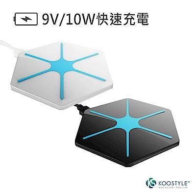KOOSTYLE Qi手機無線充電座-1.2A快充 (QWC-01)