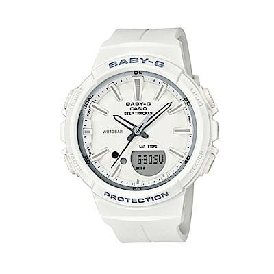 CASIO BABY-G運動熱潮流行腕錶/白/BGS-100SC-7A