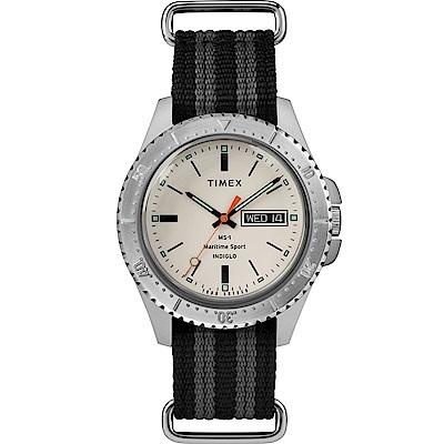 TIMEX天美時x TODD SNYDER聯名限量MS-1復刻手錶-白41mm
