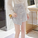 設計所在Lady-五分格子西裝短裙褲裙(S-XL可選)