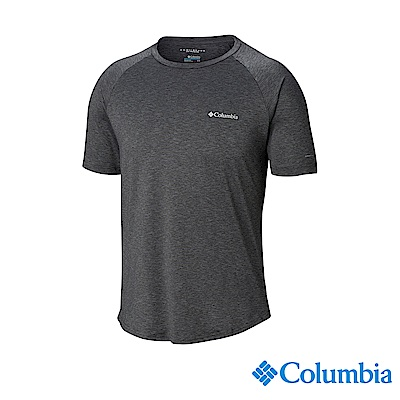Columbia哥倫比亞 男款-UPF50快排短袖上衣-深灰 UAE06530DY
