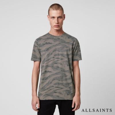 ALLSAINTS BRACE 迷彩純棉短袖修身T恤-卡其綠