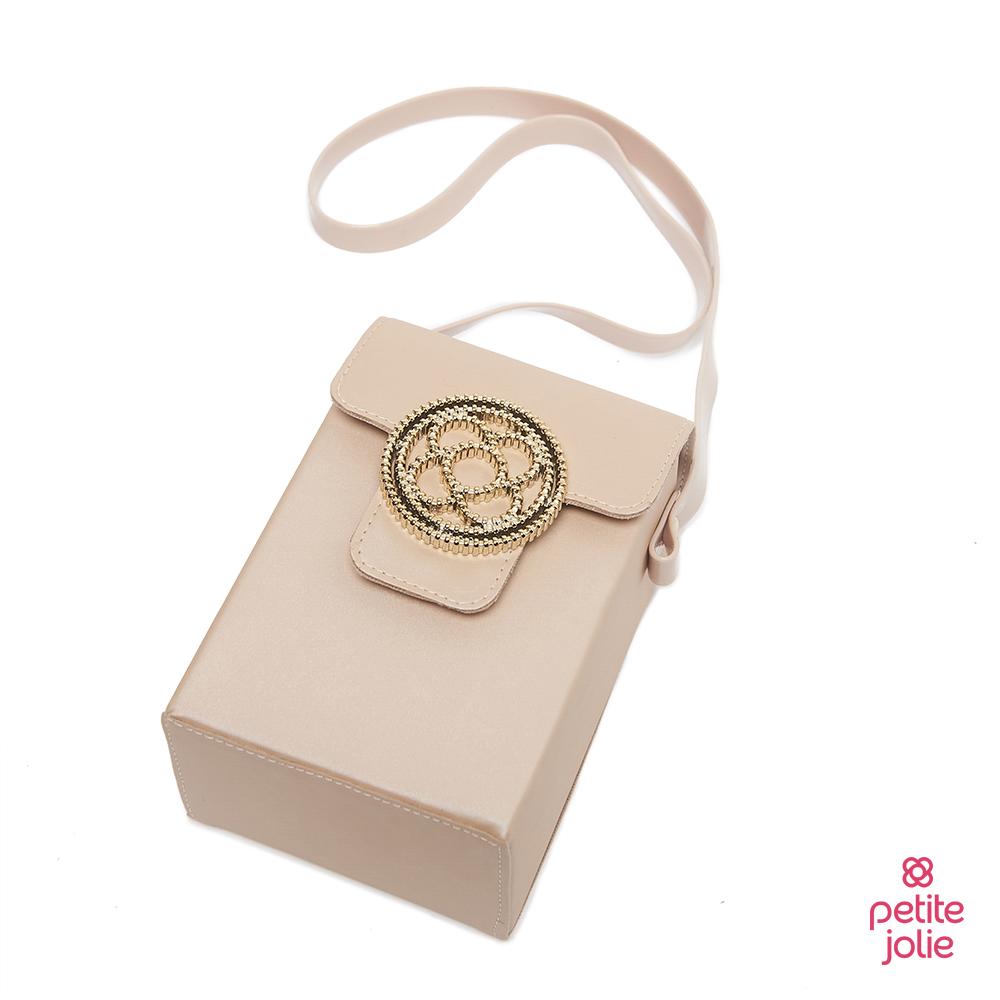 Petite Jolie--經典徽章掀蓋相機包-粉膚