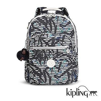Kipling 後背包 叢林印花-大