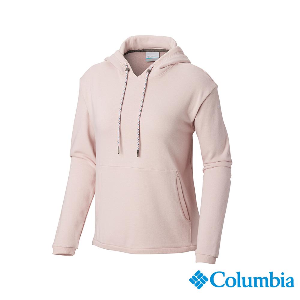 Columbia 哥倫比亞 女款-UPF50棉質連帽上衣-粉紅 UAR25610PK
