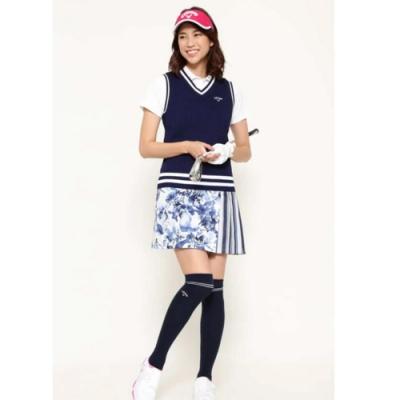 Callaway 水彩印花女士短裙 藍 252-0128807-120