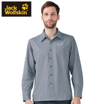 【Jack Wolfskin 飛狼】男 彈性長袖排汗襯衫『深灰』