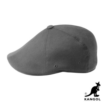 KANGOL-504 WOOL FLEXFIT 鴨舌帽-灰色