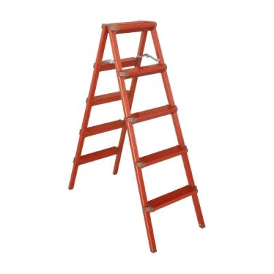 TRENY 木紋雙面踏梯 - 五階