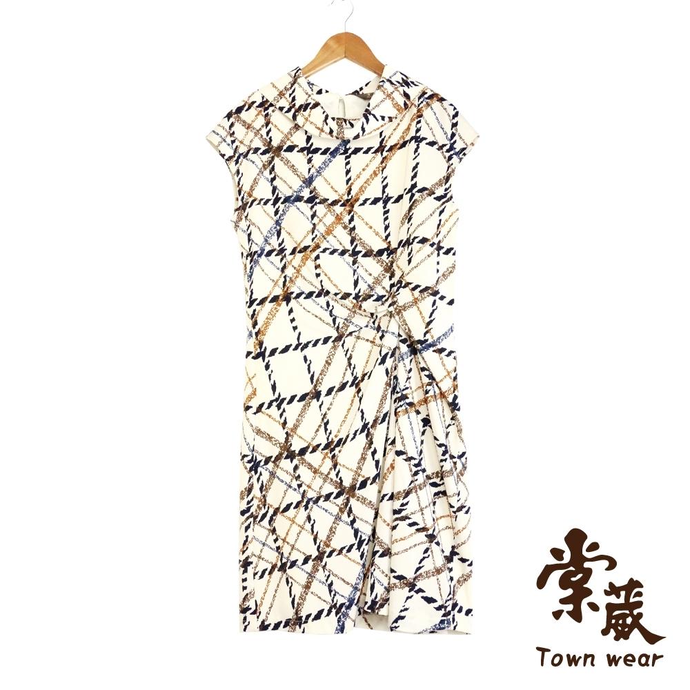 【TOWNWEAR棠葳】幾何線條修身洋裝