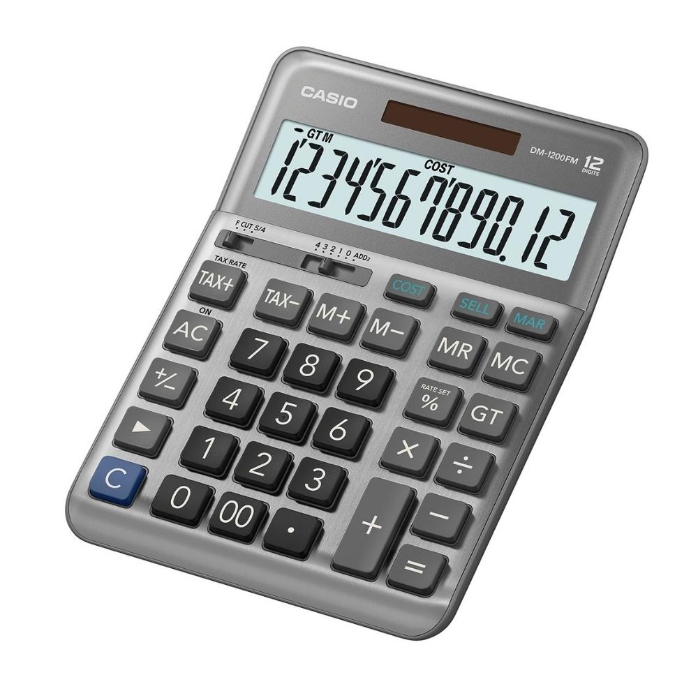 CASIO卡西歐-12位數稅率型商用計算機(DM-1200FM)