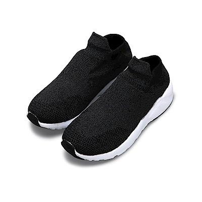 BuyGlasses 擁抱NI!素色輕量襪套式慢跑鞋-黑