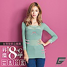 GIAT150D蕾絲美型機能保暖衣(袖接蕾絲/草芯綠)
