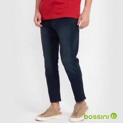 bossini男裝-四向彈九分牛仔褲牛仔藍