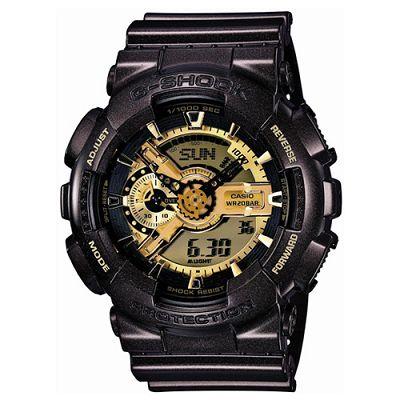 G-SHOCK 街頭狂熱重機裝置Man概念錶(GA-110BR-5A)-金x亮黑咖啡/52mm
