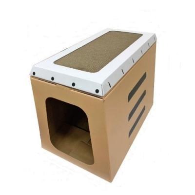 寵喵樂《貓咪運動跳箱折疊式貓抓屋》EP-037
