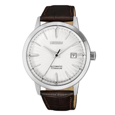 CITIZEN 星辰 紳仕氣度鈦金屬機械腕錶(NJ2180-11A)