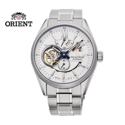 ORIENT STAR 東方之星 OPEN HEART系列 鏤空機械錶 鋼帶款 白色 RE-AV0113S  - 41.0mm