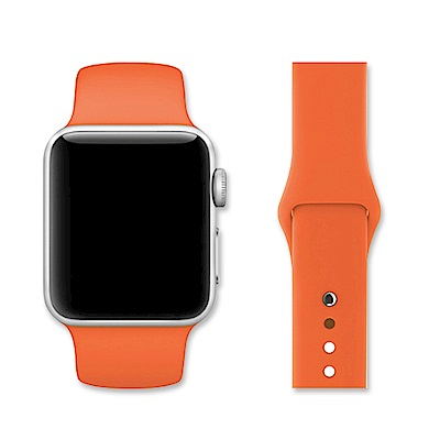 Apple Watch 38mm單色運動型矽膠錶帶(副廠)